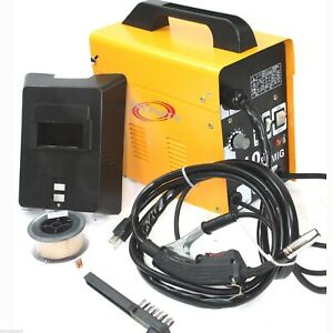 Mig 100 110v 90amp Flux Wire Welding Machine No Gas Welder W auto Feeding Torch