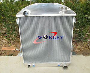 3 Row Aluminum Radiator For Ford Model T Chev Bucket Grill Shells 1924 27 Hotrod