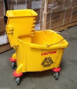 Commercial Restaurant Hall Floor Cleaning Mop Trolley Water Bucket W Wringer