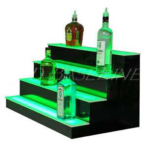 38 Led Bar Shelves Four Steps Lighted Bar Shelf Liquor Bottle Display Rack