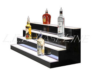 46 Led Bar Shelves Four Steps Lighted Bar Shelf Liquor Bottle Display Rack