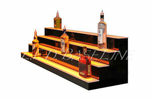 58 Led Bar Shelves Four Steps Lighted Bar Shelf Liquor Bottle Display Rack