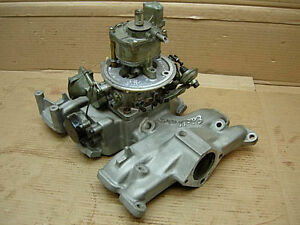 1954 62 Ford Y Block Edelbrock F548 Aluminum 4bbl Intake Manifold Teapot Carb