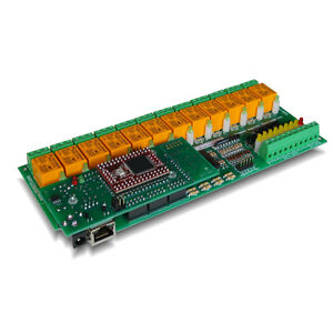 Internet ethernet 12 Channel Relay Module 16 A d I o Board Web Tcp ip Daq