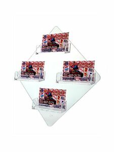 Pack Of 10 Final Sale 4 Pocket Clear Acrylic Business Card Holder