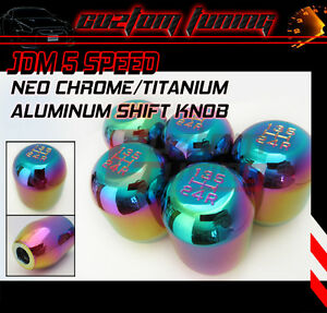 Heavy Weighted Type r Style 5 Speed M10 X 1 25 Neo Chrome Titanium Shift Knob