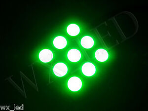 921 T15 T10 194 168 With 12 Led 5050 Smd Panel Map Dome Interior Led Green