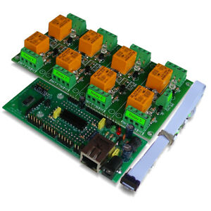 Internet ethernet Eight Channel Relay Board Web Tcp ip Telnet E mails Http Api