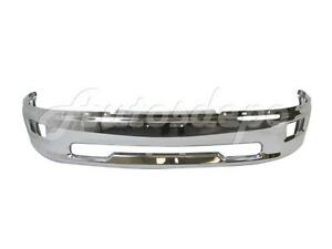 For 2009 2012 Dodge Ram 1500 Pickup Front Bumper Face Bar Chrome W Fog Hole