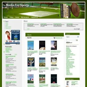 Established Sports Book Store Business Website For Sale Make Money Online Now