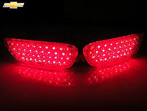 Rear Bumper Led Reflector Lights Lamp Assembly 2p For 06 10 11 12 Chevy Captiva