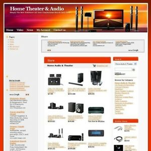 New Home Theater Audio Shop Online Business Website For Sale Free Domain Name