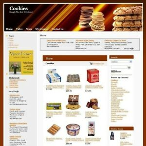 Established Cookies Gourmet Online Business Website For Sale Free Domain Name