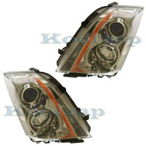 08 11 Cadillac Cts Headlight Headlamp Head Light Lamp Left Right Side Set Pair
