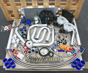 Universal Performance Diy T3 T04e Twin Turbo Charger Kit Custom Fmic Piping Psi