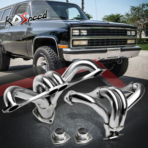 Stainless Steel Racing Exhaust Header Sbc Gm Chevy Small Block Hugger V8 8cyl