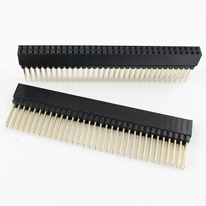 50pcs 2 54mm 2x32 Pin 64 Pin Female Double Row Long Pin Header Strip Pc104