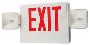 Emergency Light Exit Sign Combo With Battery Back up Ul Listed