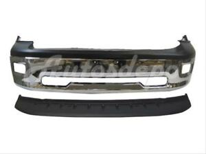 For 2009 2012 Dodge Pickup Ram 1500 Front Bumper Bar Chr Up Lo Apron W fog Ho 3