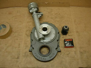 60s Chevy Bbc Nos Summers Brothers Ft Mount Distributor Timing Cover 871 Blower