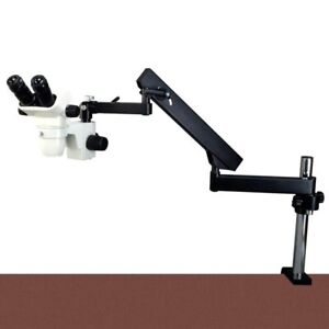 2x 45x Stereo Microscope articulating Arm Stand 0 3x Barlow For Pcb Inspection
