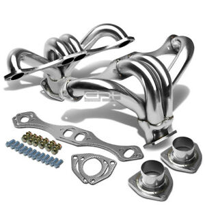 Gm chevy Small Block Hugger Sbc Stainless Exhaust Race Shorty Header 2 5 Outlet