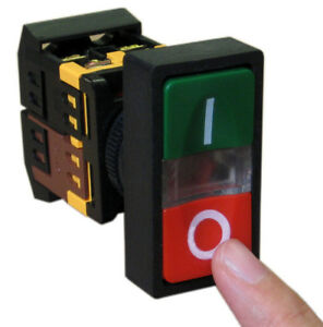 On off Start stop Push Button W Light Indicator Momentary Switch Red Green Squar