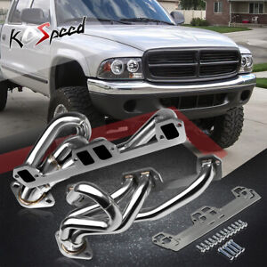 Stainless Steel Exhaust Header 94 04 Dodge Ram durango dakota V8 5 2 1500 2500