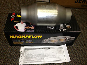 2 5 Magnaflow Universal 59956 Catalytic Converter High Flow Spun Metallic Cat