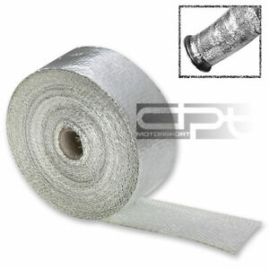 50 Ft Aluminum Coated Motor Cycle Header Exhaust Intake Manifold Heat Wrap Roll
