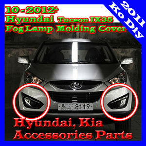 Genuine Fog Lamp Molding Cover Gloss Black For 10 11 2012 Hyundai Tucson Ix35