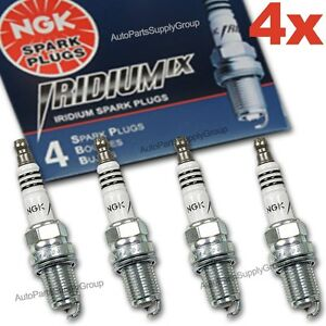 4 X Ngk Iridium Ix Spark Plugs Bkr8eix Colder Heat Range 8 For Race Tuned Modifi