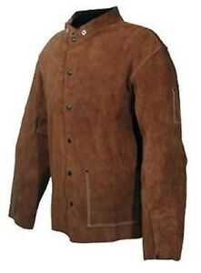 30 Inch Welding Jacket Full Length Leather Jacket Size Large Tuff steer