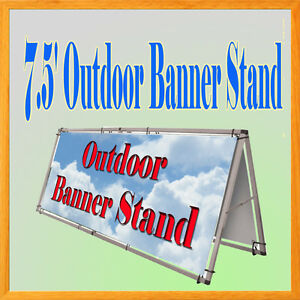 Aluminum Outdoor A Frame Banner Double Display Stand 79 X 33 Portable