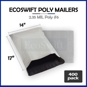 400 14x16 White Poly Mailers Shipping Envelopes Self Sealing Bags 14 X 16