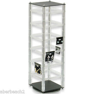 Rotating Revolving Earring Display Stand Holds 48 2 X 2 Cards