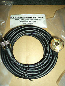 New Tram Nmo 3 4 Hole Mount 17 Cable W Pl 259 Connector For Most Radios Roof