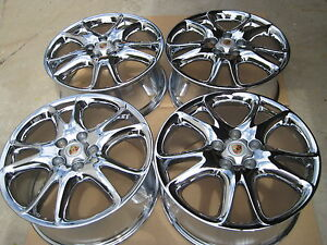 20 New Chromed Porsche Cayenne Turbo Oem Factory Original Wheels Only No Tires