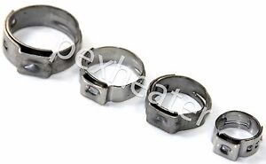 500 Pex 3 4 Stainless Steel Ear Clamps Cinch Ring Clamp Crimp Pinch Astm Usa