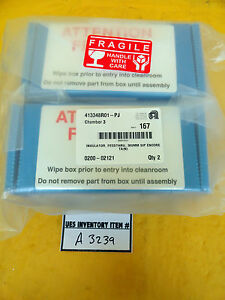 Amat Applied Materials 0200 02121 Encore Feedthrough Insulator Pair Lot Of 2 New