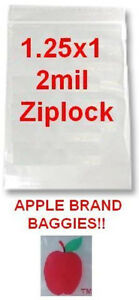 10000 Apple Brand Baggies 1 25x1 2mil Clear Ziplock Bags 10 000 12510 1 25 1