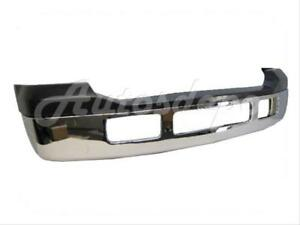 For 05 07 Ford Super Duty F250 F350 Pickup Front Bumper Face Bar Chr Up Pad 2pc