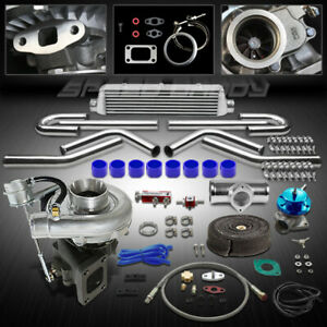T04e 8pc T3 t4 Universal Turbo Kit V band Turbocharger W wastegate intercooler