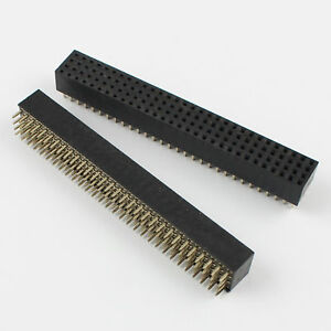 50pcs Pitch 2mm 4x30 Pin 4 Rows 120 Pin Straight Female Pin Header Strip