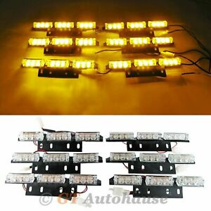 All Amber High Power Emergency 54 Led Safety Construction Truck Strobe Lamp
