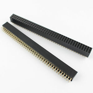 40pcs 2 54mm 3x40 Pin 120 Pin Female Three Rows Straight Pin Header Strip