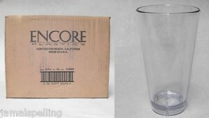 14oz Plastic Pub Beer Mixing Cocktail Glass Encore 52414 Case 36 Bar Supplies