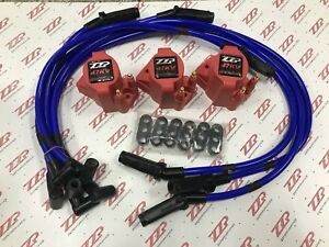 Zzperformance 3800 High Voltage Coil Packs 10 5mm Blue Spark Plug Wire Combo
