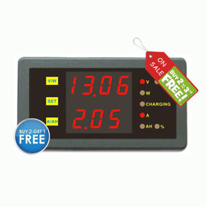 Dc 120v 500a Volt Amp Combo Meter Battery Charge Discharge Indicator Camper Car