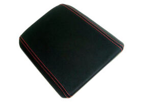 Console Armrest Leather Synthetic Cover For Ford Mustang 05 09 Red Stitch